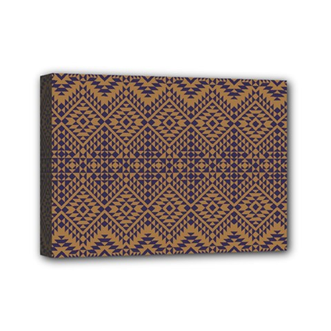 Aztec Pattern Mini Canvas 7  X 5
