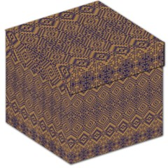 Aztec Pattern Storage Stool 12