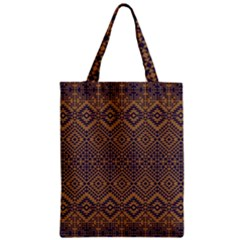 Aztec Pattern Zipper Classic Tote Bag
