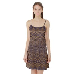Aztec Pattern Satin Night Slip