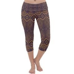 Aztec Pattern Capri Yoga Leggings