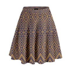 Aztec Pattern High Waist Skirt