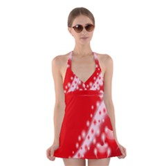 Background Banner Congratulation Halter Swimsuit Dress