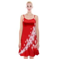 Background Banner Congratulation Spaghetti Strap Velvet Dress