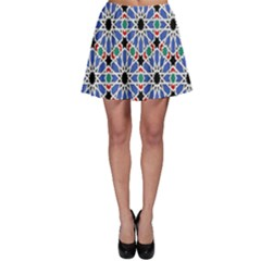 Background Pattern Geometric Skater Skirt