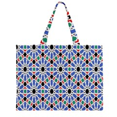 Background Pattern Geometric Large Tote Bag