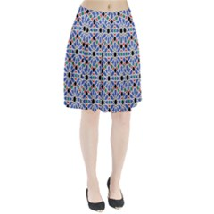 Background Pattern Geometric Pleated Skirt