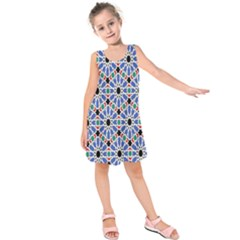 Background Pattern Geometric Kids  Sleeveless Dress