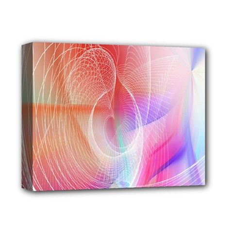 Background Nebulous Fog Rings Deluxe Canvas 14  X 11