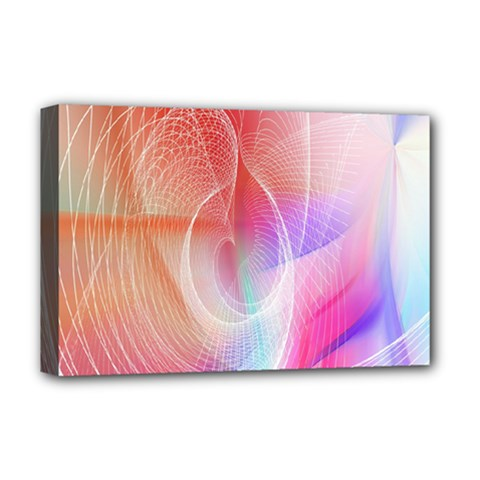 Background Nebulous Fog Rings Deluxe Canvas 18  X 12