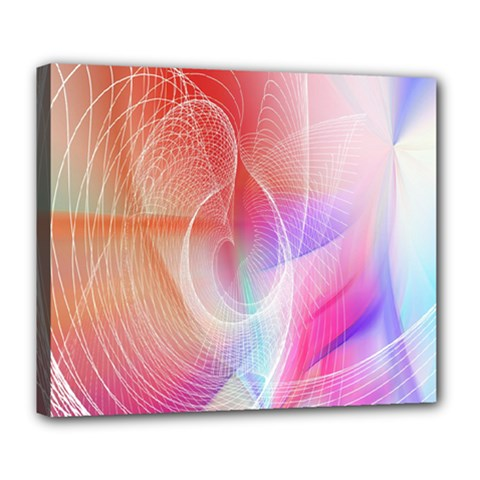 Background Nebulous Fog Rings Deluxe Canvas 24  x 20