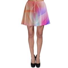 Background Nebulous Fog Rings Skater Skirt