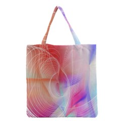 Background Nebulous Fog Rings Grocery Tote Bag