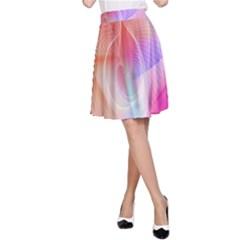 Background Nebulous Fog Rings A Line Skirt