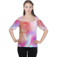 Background Nebulous Fog Rings Women s Cutout Shoulder Tee