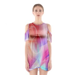 Background Nebulous Fog Rings Shoulder Cutout One Piece