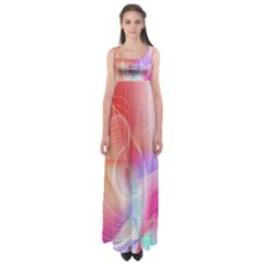 Background Nebulous Fog Rings Empire Waist Maxi Dress