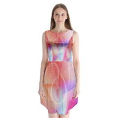 Background Nebulous Fog Rings Sleeveless Chiffon Dress