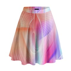Background Nebulous Fog Rings High Waist Skirt