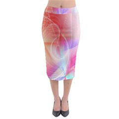 Background Nebulous Fog Rings Midi Pencil Skirt