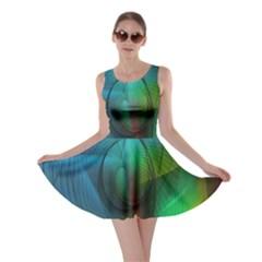 Background Nebulous Fog Rings Skater Dress