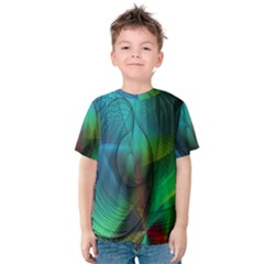 Background Nebulous Fog Rings Kids  Cotton Tee