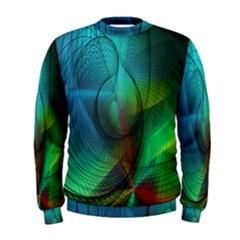 Background Nebulous Fog Rings Men s Sweatshirt
