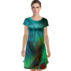 Background Nebulous Fog Rings Cap Sleeve Nightdress
