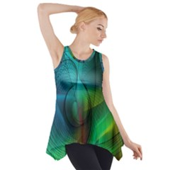 Background Nebulous Fog Rings Side Drop Tank Tunic