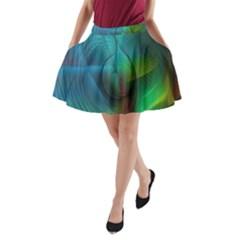 Background Nebulous Fog Rings A Line Pocket Skirt