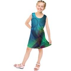 Background Nebulous Fog Rings Kids  Tunic Dress