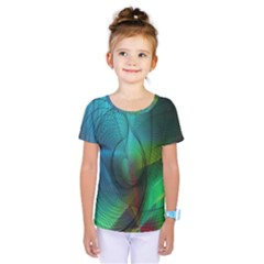 Background Nebulous Fog Rings Kids  One Piece Tee
