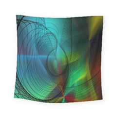 Background Nebulous Fog Rings Square Tapestry (small)