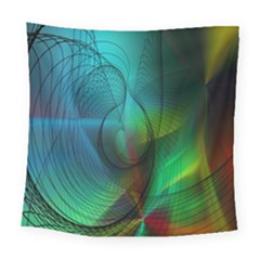 Background Nebulous Fog Rings Square Tapestry (large)