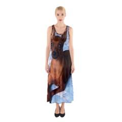 Min Pin Laying Sleeveless Maxi Dress