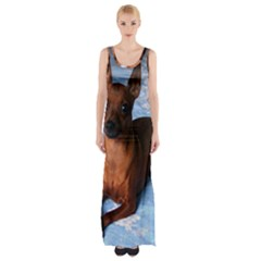 Min Pin Laying Maxi Thigh Split Dress