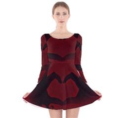 Dark Valentines Long Sleeve Velvet Skater Dress