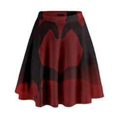 Dark Valentines High Waist Skirt