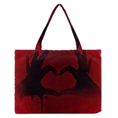 Dark Valentines Medium Zipper Tote Bag