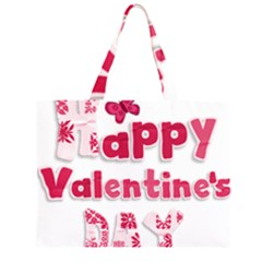 Happy Valentines Day Busy Large Tote Bag