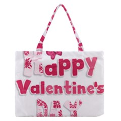 Happy Valentines Day Busy Medium Zipper Tote Bag