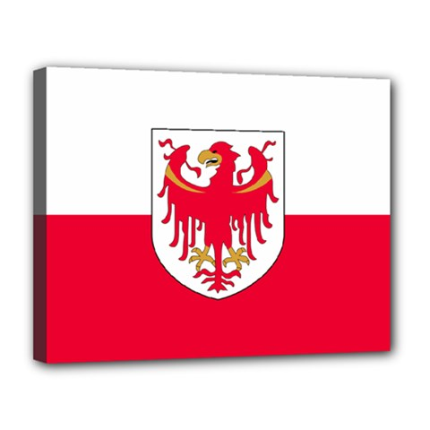 Flag of South Tyrol Canvas 14  x 11