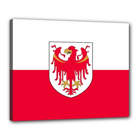 Flag of South Tyrol Canvas 20  x 16