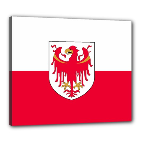 Flag of South Tyrol Canvas 24  x 20