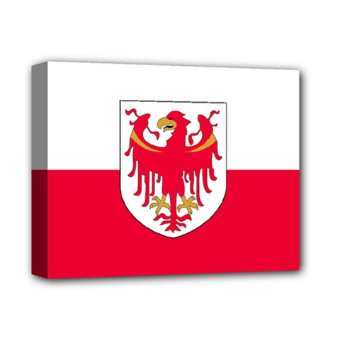 Flag of South Tyrol Deluxe Canvas 14  x 11