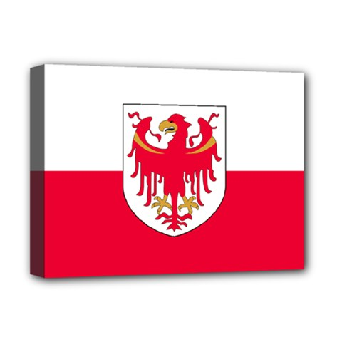 Flag of South Tyrol Deluxe Canvas 16  x 12