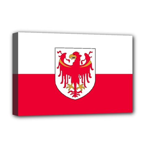 Flag of South Tyrol Deluxe Canvas 18  x 12