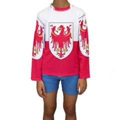Flag of South Tyrol Kids  Long Sleeve Swimwear