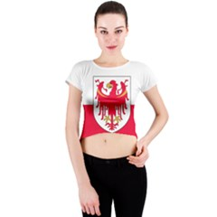 Flag of South Tyrol Crew Neck Crop Top