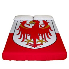 Flag of South Tyrol Fitted Sheet (Queen Size)